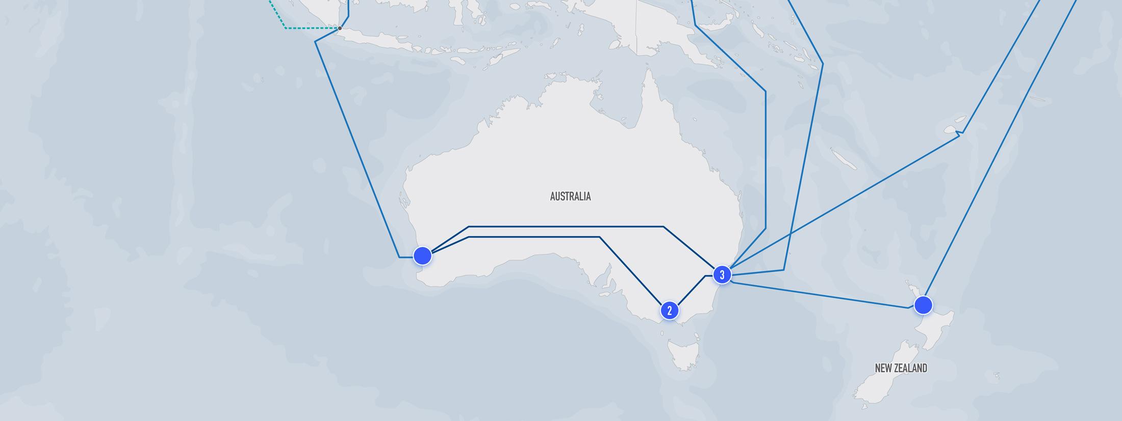 Australia India Map.Network Maps Reliance Communications